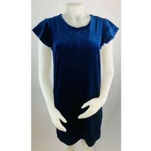 Cynthia Rowley Navy Blue Velvet Dress